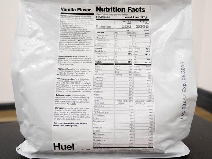 nutrition huel